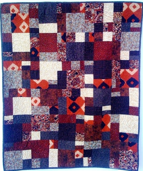Hot Chocolate,  35 x48 inch quilt, by O.V. Brantley, 2008. For sale at www..etsy.com/shop/ovbrantleyquilts