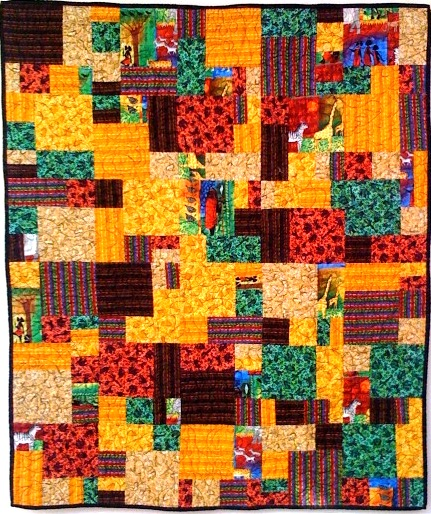 My African Heritage, 38 x 45 inches, by O.V. Brantley, 2008.