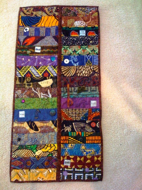 African Quilt Market (Part Two), 15 x 30 inches, by O.V. Brantley, 2008. For sale at www.ovbrant.etsy.com