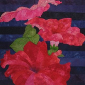 Red Blooms  by Juanita Yeager