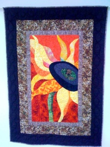 Sassy Sunflower, 36 x 50 inches, by O.V. Brantley, 2008. For sale at www.ovbrant.etsy.com.
