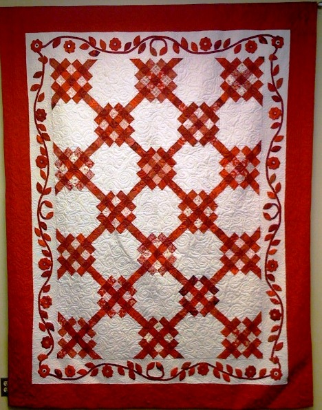 Roses are Red, 74 x 94 inch quilt, by O.V. Brantley, 2007. For sale at etsy.com/shop/ovbrantleyquilts