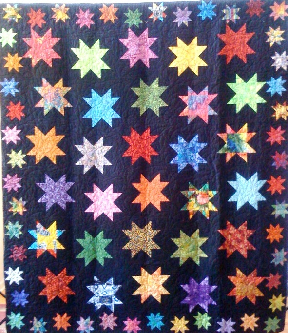 Stars in My Heaven, 83 x 97 inches, by O.V. Brantley, 2009.