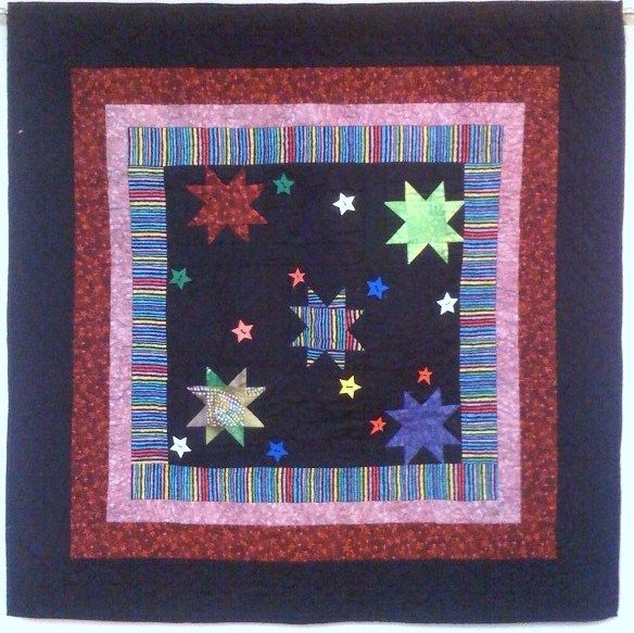 My Stars Got Rhythm, 38 x 38 inches, by O.V. Brantley, 2008. For sale at www.etsy.com/shop/ovbrantleyquilts