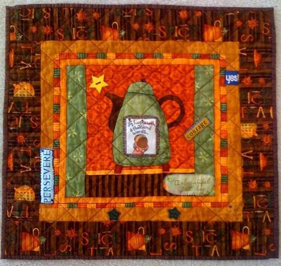 Have a Cup of Tea -- The Sun Will Come Out Tomorrow, 19 x 18 inches, by O.V. Brantley, 2009. For sale at www.ovbrant.etsy.com.