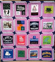 Meredith's Cherished Childhood Memories, 71 x 79 inch t-shirt quilt, by O.V. Brantley, 2010