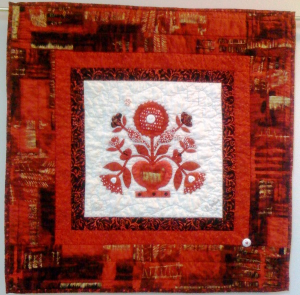 A Bouquet in Red and White, 24 x 24 inches, by O.V. Brantley, 2010.