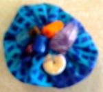 blue lapel pin