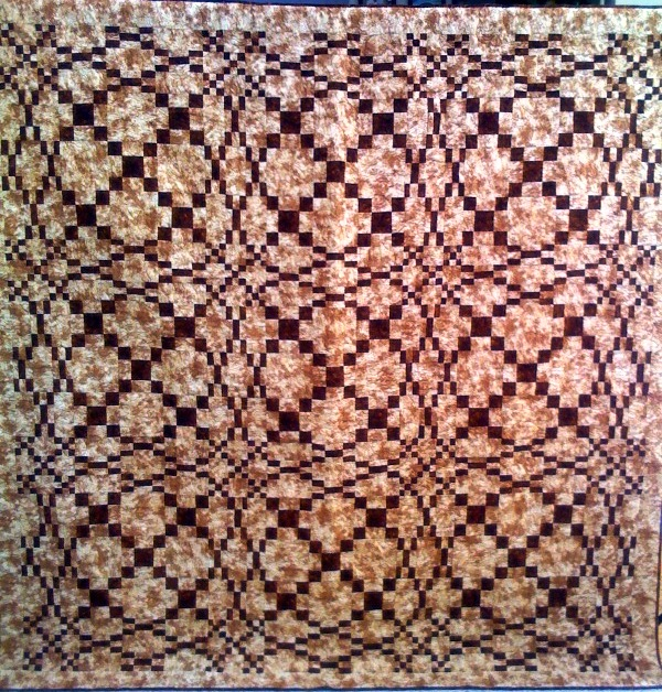 Cognac, 80 x 80 inches, by O.V. Brantley, 2010. For sale at www.ovbrant.etsy.com.