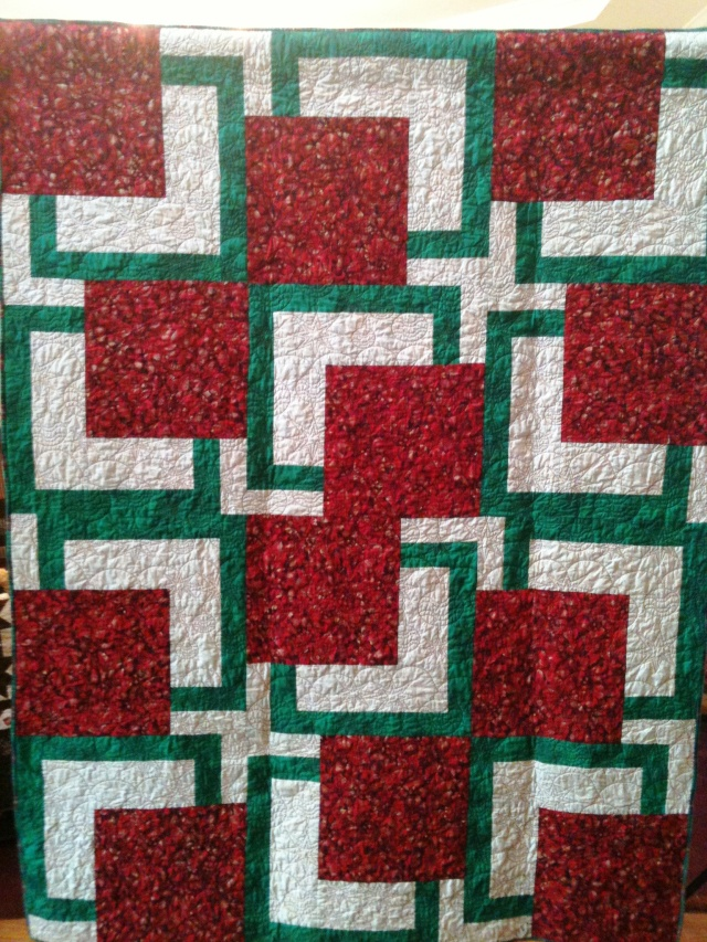 Almost Christmas, 54 x 72 inches, by O. V. Brantley, 2011. For sale at www.etsy.com/shop/ovbrantleyquilts.