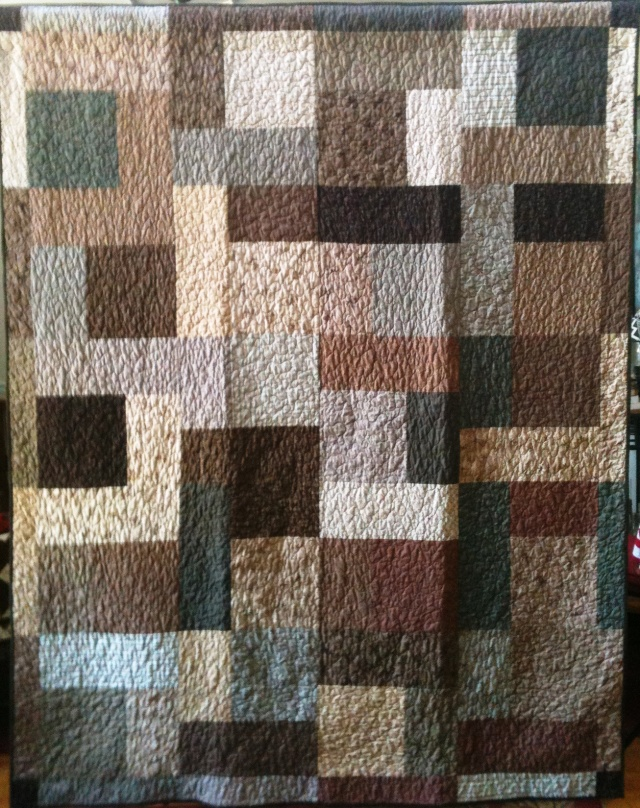 A Life of Simple Abundance, 70 x 86 inch quilt, by O.V. Brantley, 2011. For sale at www.etsy.com/shop/ovbrantleyquilts.