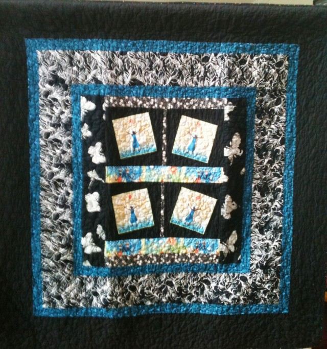 Rejoice Always, 50 x 50 inch quilt, by O.V. Brantley, 2011. For sale at www.etsy.com/shop/ovbrantleyquilts.