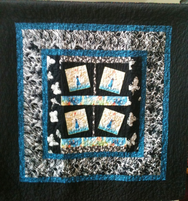 Rejoice Always, 50 x 50 inch quilt, by O.V. Brantley, 2011. For sale at www.ovbrant.etsy.com.