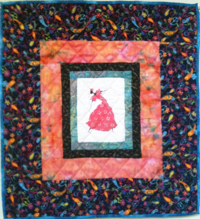 I Am Dancing In My Heart, 25 x 27 inch quilt, by O.V. Brantley, 2011. For sale at etsy.com/shop/ovbrantleyquilts