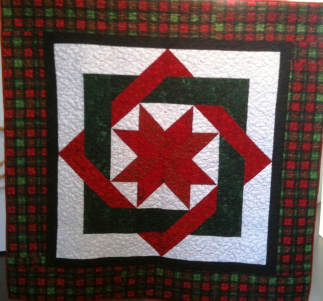 Complicated Christmas Star, 57 x 57 inch art quilt, by O.V. Brantley, 2011.