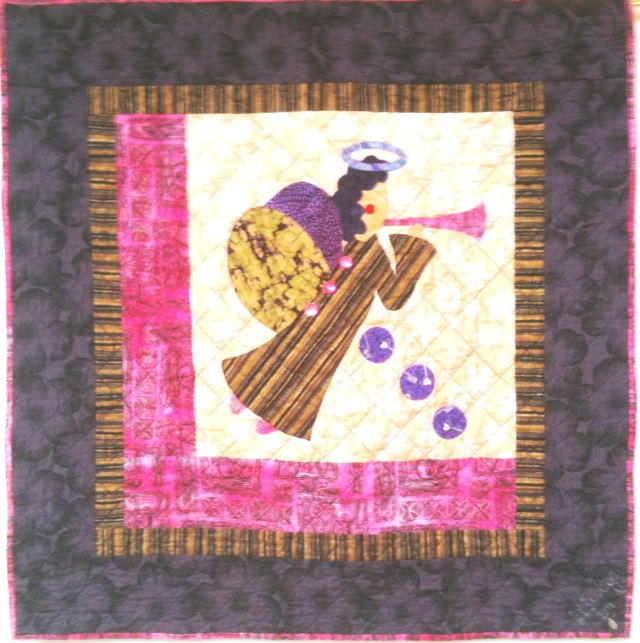 I Believe in Angels #16, 32 x 32 inches, by O.V. Brantley, 2011. For sale at www.etsy.com/shop/OVBrantleyQuilts