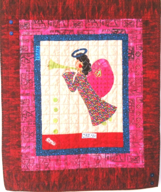 I Believe in Angels #20, 30 x 37 inches, by O.V. Brantley, 2011. For sale at etsy.com/shop/ovbrantleyquilts