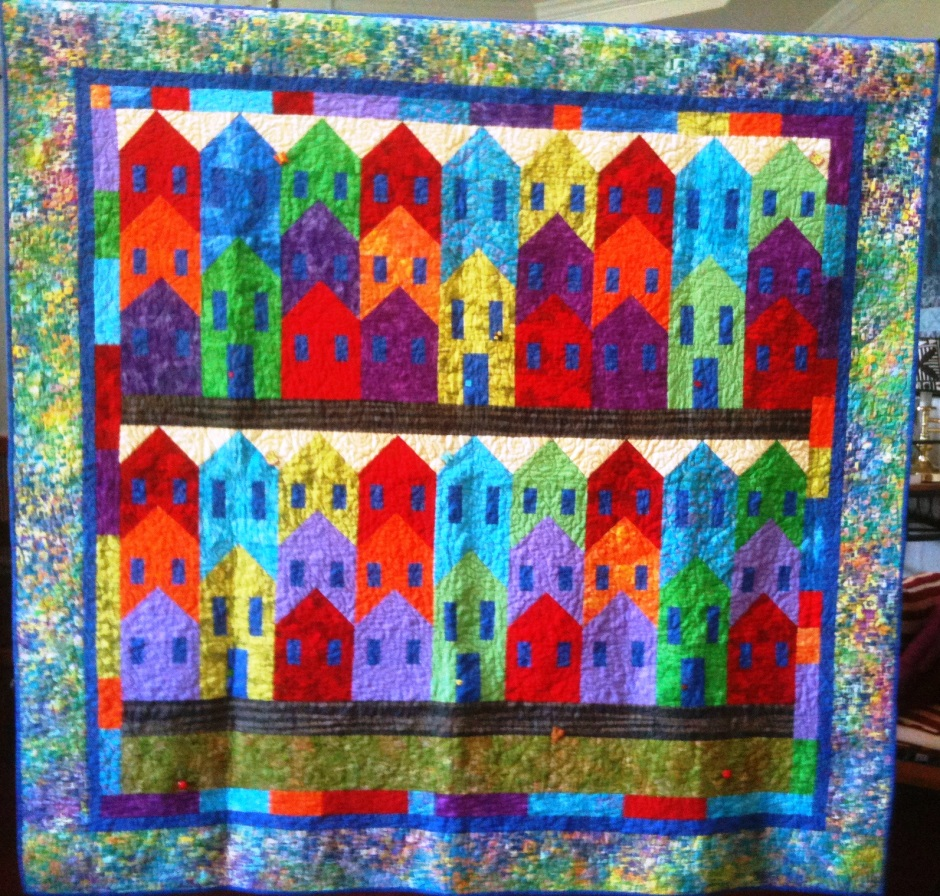 Island City, 70x 67 inch quilt, by O.V. Brantley, 2012. For sale at ETSY.com/shop/ovbrantleyquilts