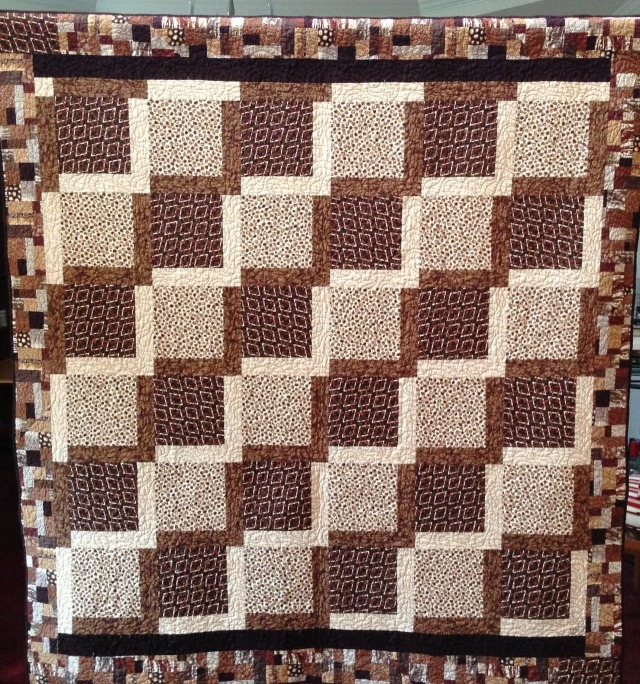Dreaming of Chocolate, 72 x 75 inch quilt by O.V. Brantley, 2012. For sale at www.etsy.com/shop/ovbrantleyquilts