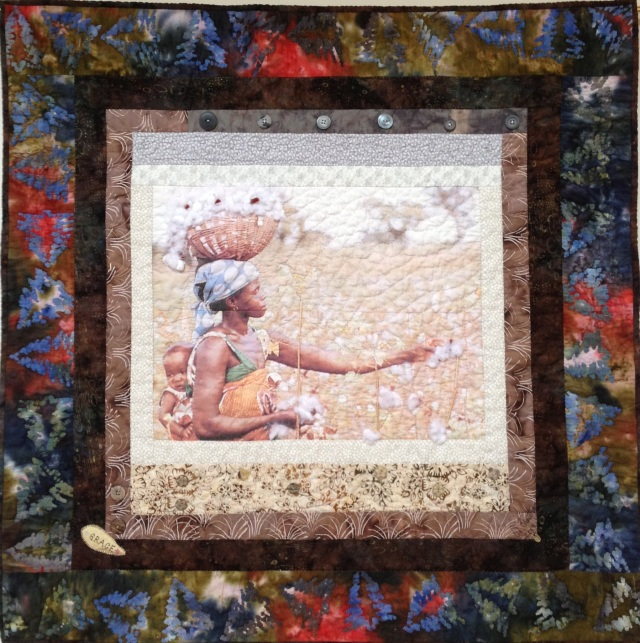 Strength and Grace, 36 x 36 inch art quilt, by O.V. Brantley, 2013. For sale at etsy.com/shop/ovbrantleyquilts