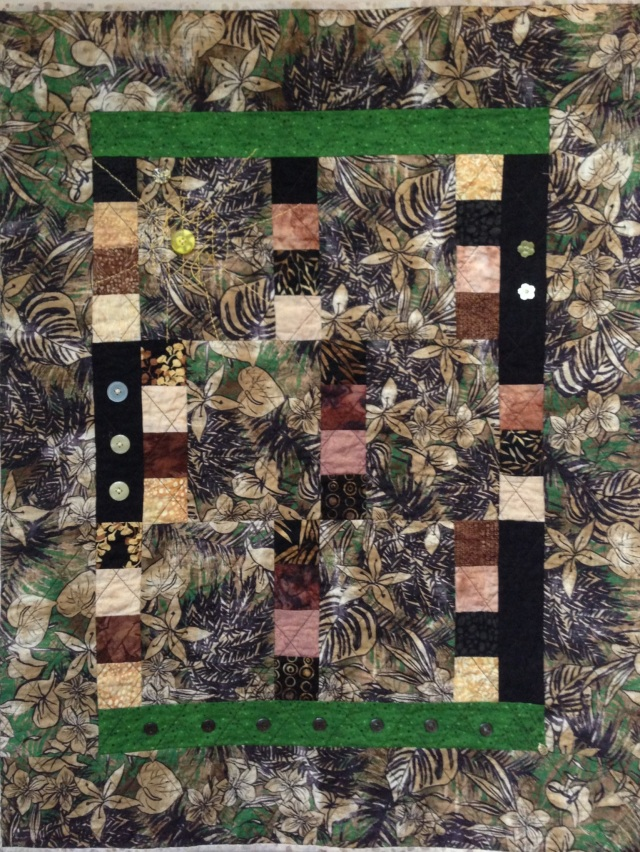 On My Darkest Day I See Light, 27 x 35 inch art quilt, by O.V. Brantley, 2013. For sale at etsy.com/shop/ovbrantleyquilts