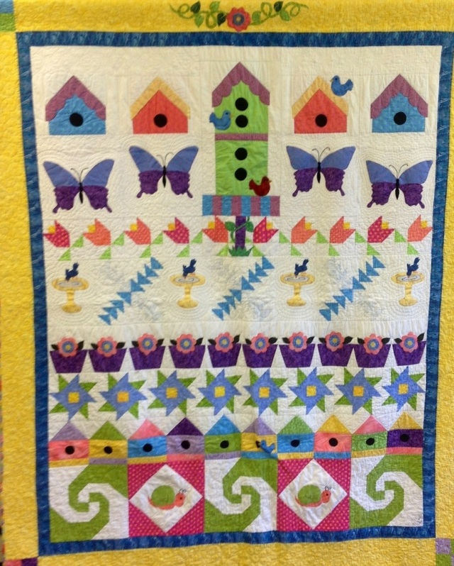 A Southern Summer Day, 75 x 88 inch traditional quilt, by O.V. Brantley, 2008.