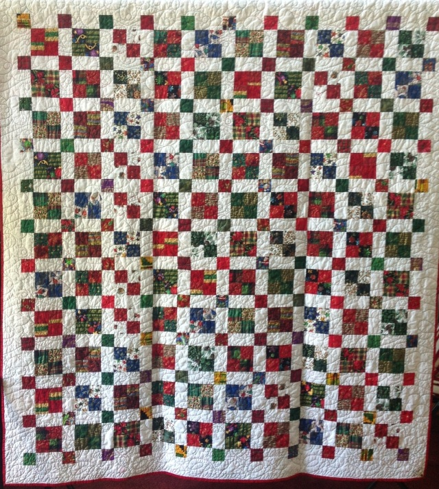 Joyful Noise, 68 x 74 inch quilt, by O.V. Brantley, 2013
