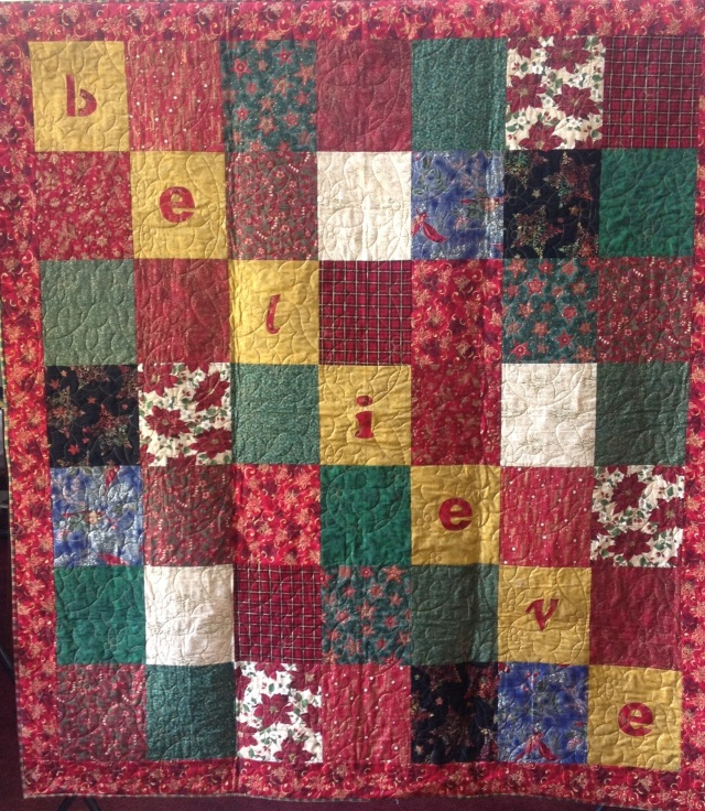 Believe, 63 x 71 inch art quilt, by O.V. Brantley, 2013