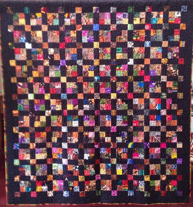 Joyful Journey, 68 x 74 inch art quilt, by O.V. Brantley, 2013. For sale at ETSY.com/shop/ovbrantleyquilts