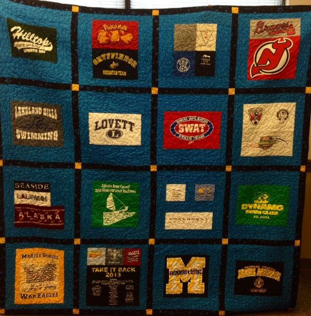 Will's Cherished Childhood Memories, t-shirt quilt by O.V. Brantley, 2013