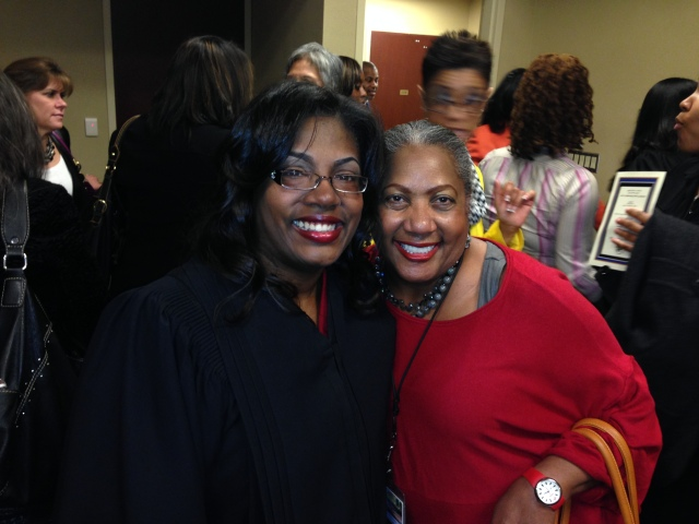 Judge Angela Brown and O.V. Brantley