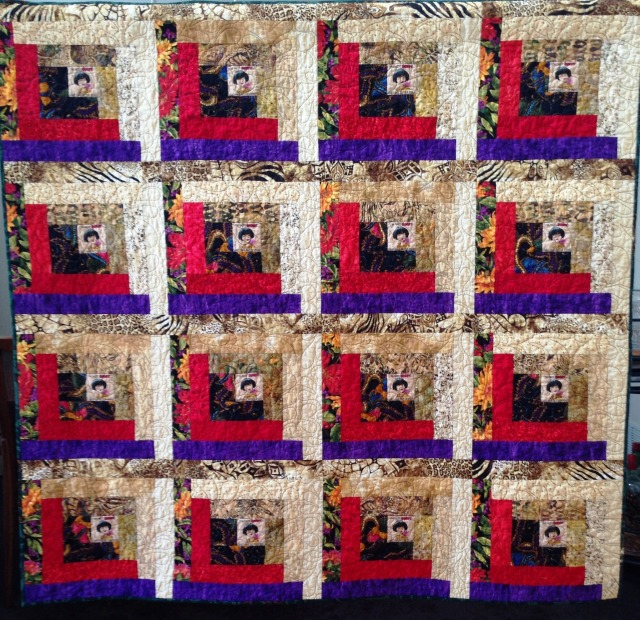 Be Bossy, 60 x 60 inch art quilt, by O.V. Brantley, 2014