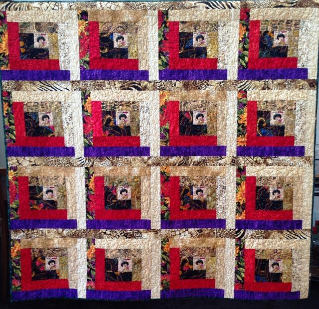 Be Bossy, 60 x 60 inch art quilt, by O.V. Brantley, 2014