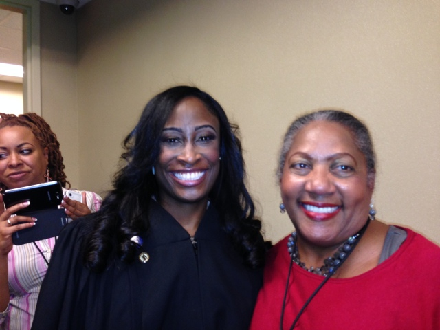 Judge LaTisha Dear and O.V. Brantley