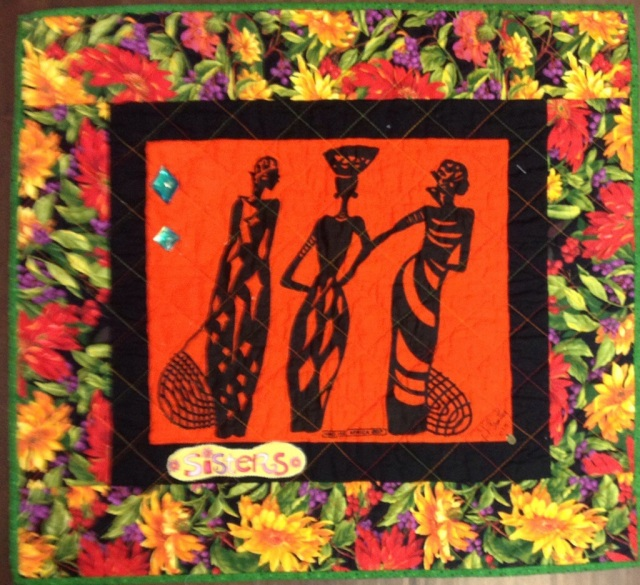 A Woman of Sophisticated Substance #6, 26 x 24 inch art quilt, by O.V. Brantley, 2013. For sale at ETSY.com/shoop/ovbrantleyquilts