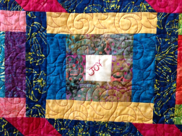 """Joy"" block, Detail of Joy and Gratitude"