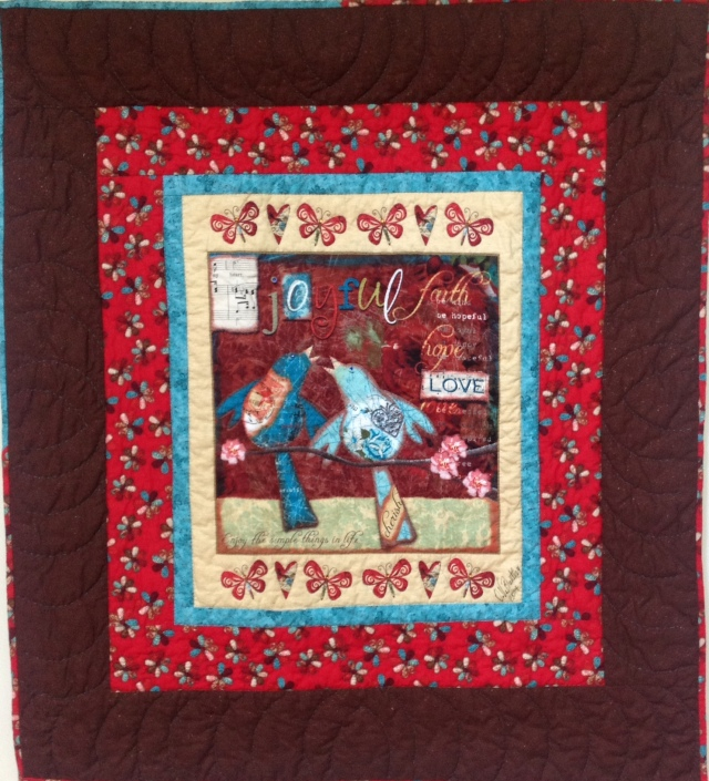Serene at Sixty, 38 x 42 inch quilt, by O.V. Brantley, 2014.