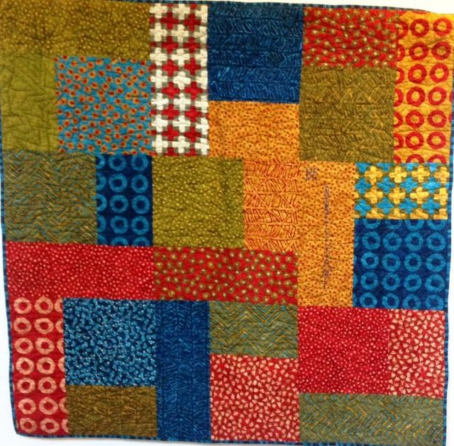 Be Brilliant, 48 x 48 inch art quilt by O.V. Brantley, 2014. For sale at ETSY.com/shop/ovbrantleyquilts