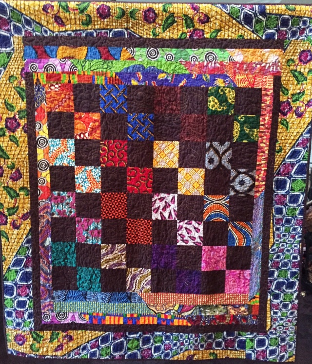 African Merlot, 54 x 62 inch quilt by O.V. Brantley, 2014. For sale at ETSY.com/shop/ovbrantleyquilts