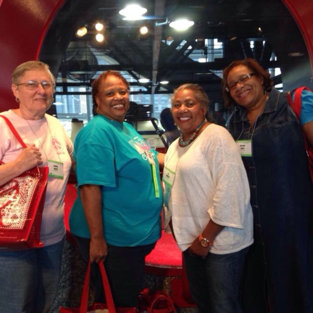 Brenda Shelby, Marva Swanson, O.V. Brantley and Rosalind Newell enjoy the International Quilt Festival, Houston, TX