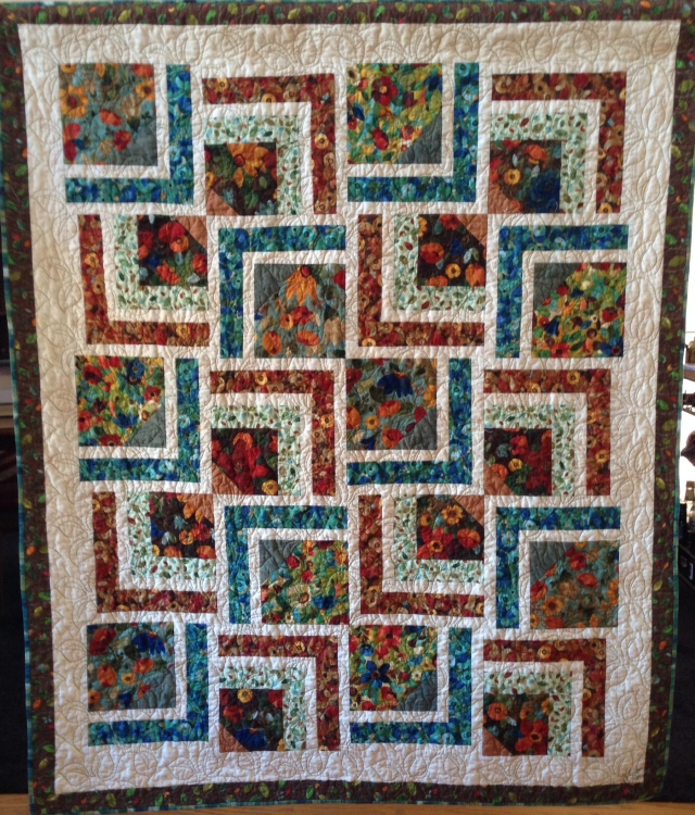 Tranquil Dreams, 58 x 70 inch art quilt, by O.V. Brantley, 2014. For sale at ETSY.com/shop/ovbrantleyquilts