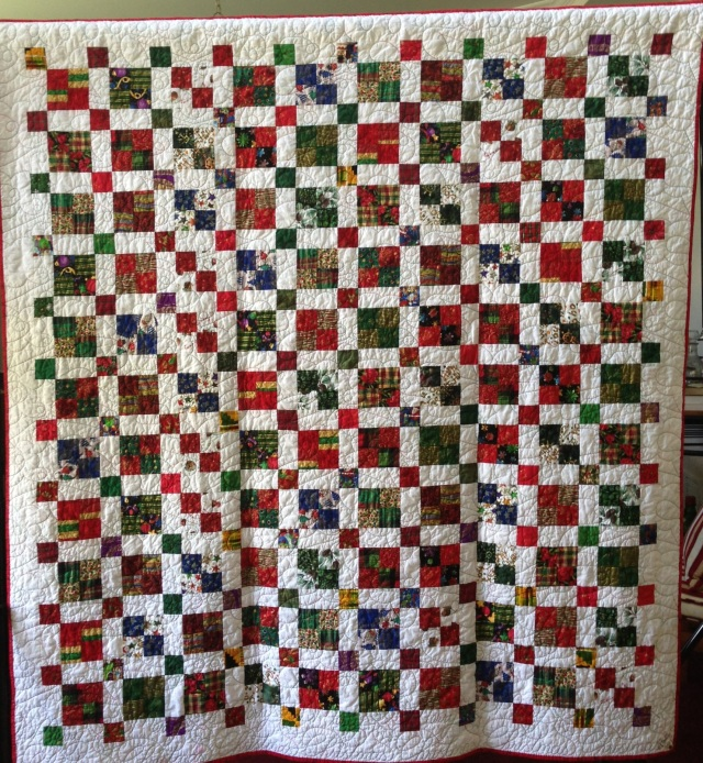 Joyful Noise, 68 x 74 inch art quilt, by O.V. Brantley, 2013. For sale at ETSY.com/shop/ovbrantleyquilts