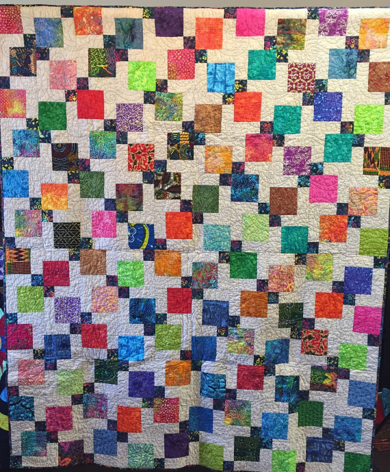 Summer's End Dreams, 65 x 78 inch lap quilt by O.V. Brantley, 2014.