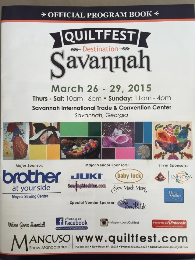 Quiltfest Savannah Program