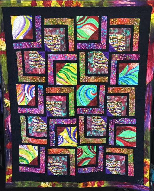 Dreaming of Euphoria, 58 x 70 inch art quilt by O.V. Brantley, 2015. For sale at ETSY.com/shp/ovbrantleyquilts