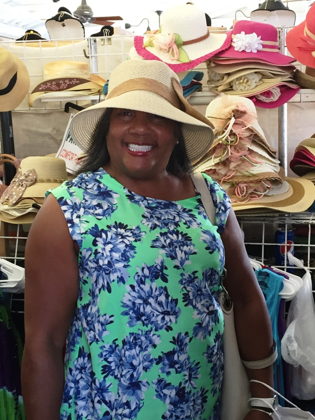 Hat shopping in Charleston