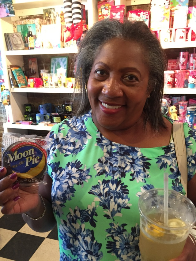 Me with Moon Pie. I loved Moon Pies when I was a girl.