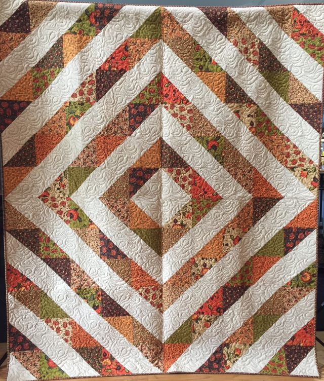 Grateful Journey, 60 x 70 inch lap quilt, by O.V. Brantley, 2015. For sale at ETSY.com/shop/ovbrantleyquilts