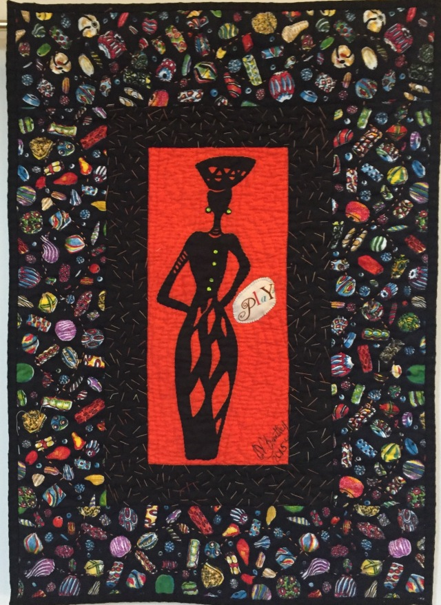 A Woman of Sophisticated Substance #8 art quilt by O.V. Brantley, 2015.