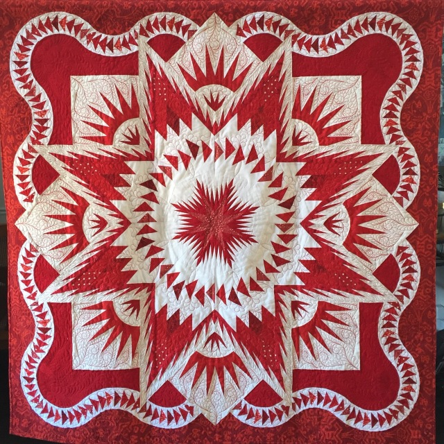 Star of Mu, 60x60 inch quilt by O.V. Brantley, 2016.